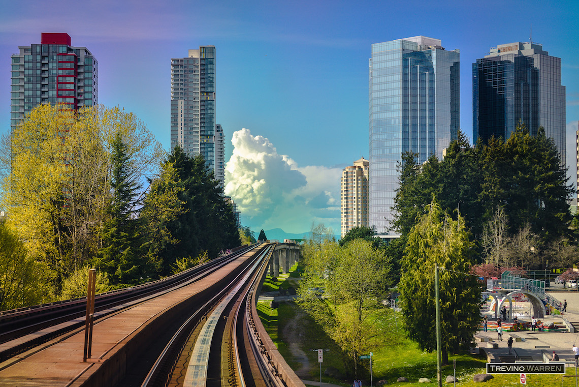 Vancouver Skytrain from Surrey